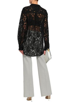 MAISON MARGIELA Cotton-blend corded lace shirt