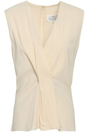MAISON MARGIELA Wrap-effect stretch-crepe top