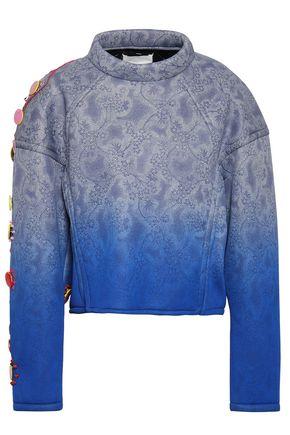 MAISON MARGIELA Embellished printed dégradé scuba sweatshirt
