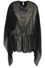MAISON MARGIELA Paneled satin-crepe and silk-georgette blouse