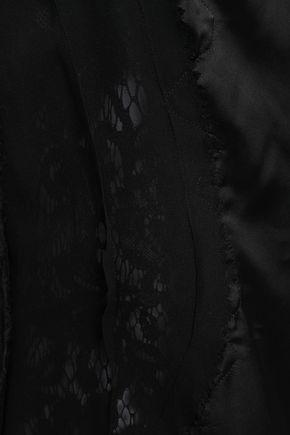 MAISON MARGIELA Paneled satin, lace and mesh top