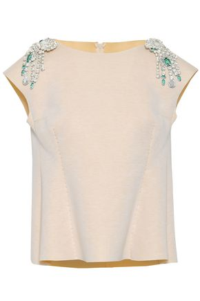 MAISON MARGIELA Crystal-embellished painted scuba top