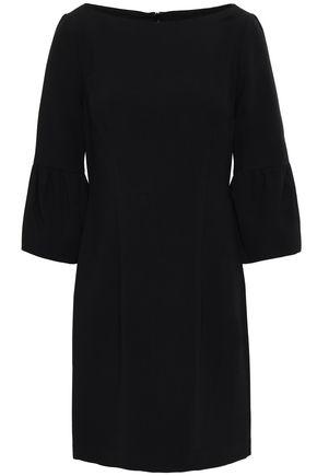 BLACK HALO Fluted cady mini dress