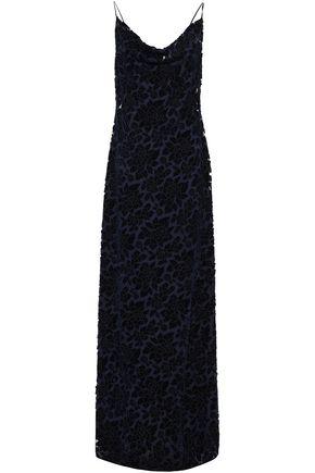 BLACK HALO EVE by LAUREL BERMAN Draped flocked tulle gown
