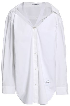 ALEXANDERWANG.T Cutout cotton-poplin shirt