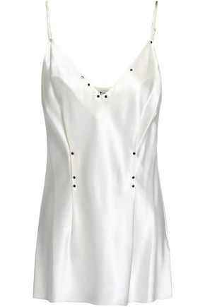 ALEXANDERWANG.T Studded silk-satin camisole