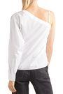 ALEXANDERWANG.T One-shoulder cotton-poplin top