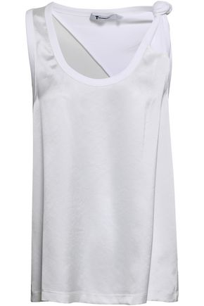 ALEXANDERWANG.T Knotted satin-crepe tank