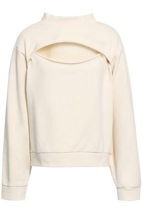ALEXANDERWANG.T Cutout French cotton-terry sweatshirt