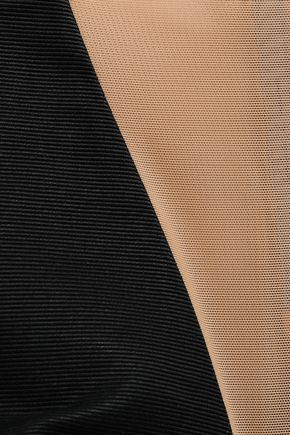 RICK OWENS Prong paneled mesh, ottoman and scuba top