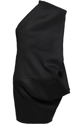 RICK OWENS One-shoulder jacquard tunic