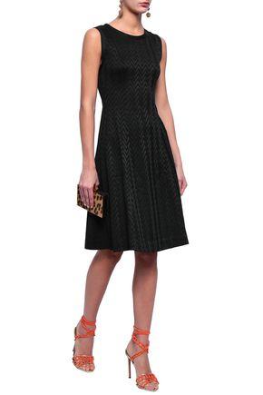 MISSONI Flared knitted dress bad501fbab1c