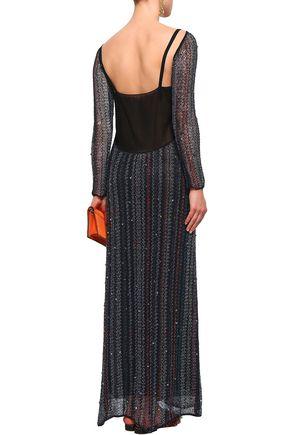MISSONI Embellished crochet-knit maxi dress