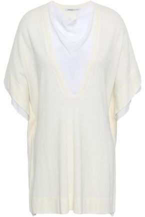 AGNONA Cotton and silk-blend crepe de chine top