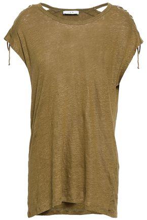 IRO Mélange slub linen T-shirt
