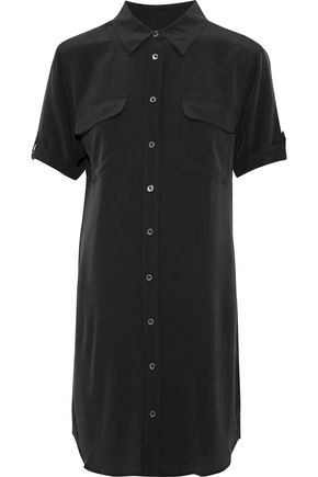 EQUIPMENT Slim Signature washed-silk mini shirt dress