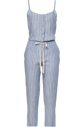 ENZA COSTA Striped linen jumpsuit