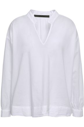 ENZA COSTA Gathered cotton blouse