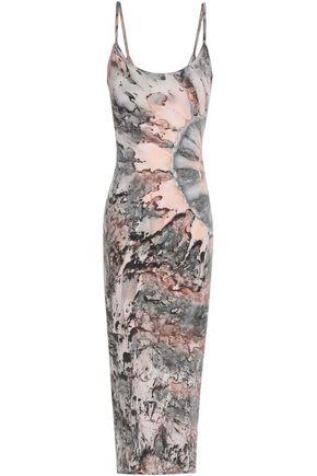 ENZA COSTA Tie-dye pima cotton-blend jersey dress