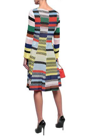 MISSONI Patchwork-effect crochet-knit dress