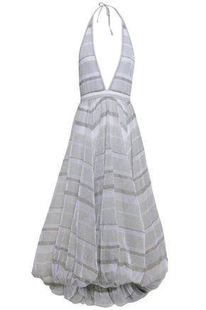 MISSONI Draped wool, cotton, and silk-blend maxi dress