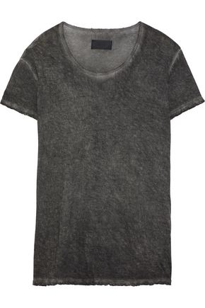 RTA Distressed cotton and cashmere-blend T-shirt