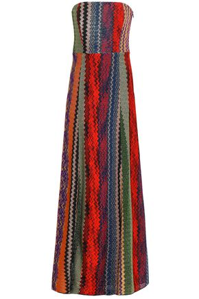 MISSONI Strapless crochet-knit gown