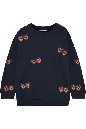 CHINTI AND PARKER Embroidered cotton-fleece sweatshirt