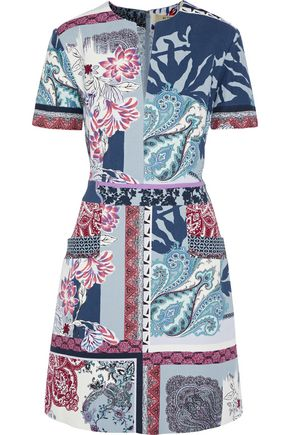 ETRO Printed cotton mini dress