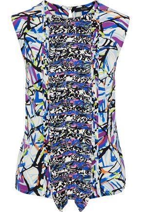 ETRO Pleated printed silk crepe de chine blouse