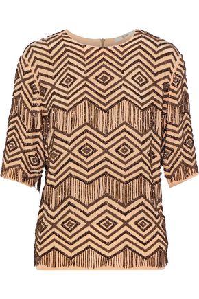 ETRO Bead-embellished washed-silk top