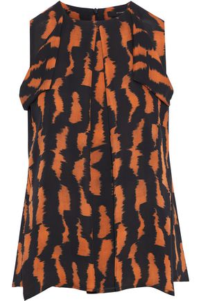 ETRO Draped printed silk crepe de chine top