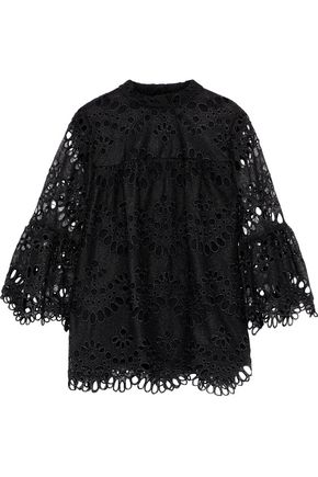 ANNA SUI Broderie anglaise blouse