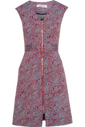 DIANE VON FURSTENBERG Printed stretch-cotton twill mini dress