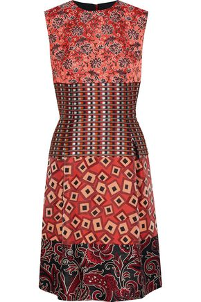 ETRO Paneled jacquard dress