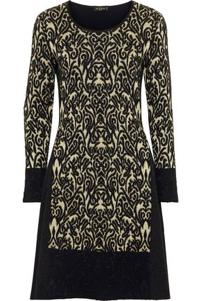 ETRO Metallic wool-blend jacquard dress