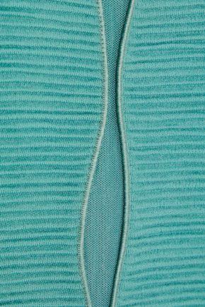 GIORGIO ARMANI Cutout virgin wool-blend top