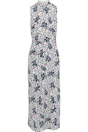 SALONI Gemma open-back floral-print silk crepe de chine midi dress
