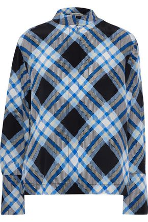 DIANE VON FURSTENBERG Checked silk shirt