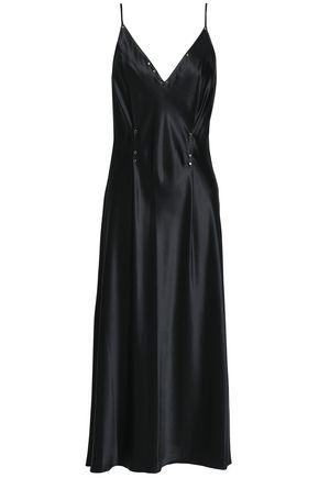 ALEXANDERWANG.T Studded silk-satin midi dress
