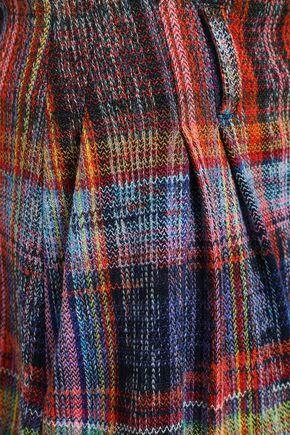 MISSONI Checked crochet-knit cotton shorts