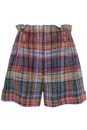 MISSONI Checked crochet-knit cotton shorts