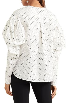 GEORGIA ALICE Polka-dot cotton-poplin shirt