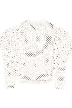 GEORGIA ALICE Polka-dot cotton-poplin shirt