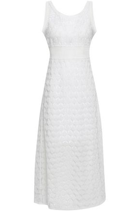 MISSONI Metallic crochet-knit midi dress