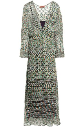 MISSONI Marled open-knit midi dress