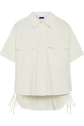 RAG & BONE Mason lace-up sateen-twill shirt