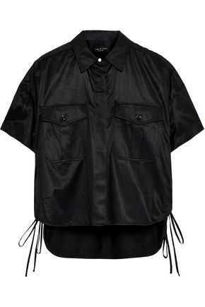 RAG & BONE Mason lace-up sateen-twill shirt