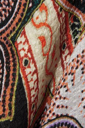 エトロ プリント シルクふくれ織り ワンピース