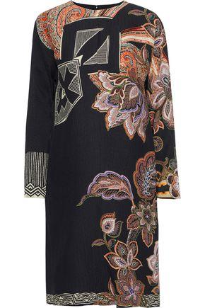 ETRO Printed silk-cloqué dress